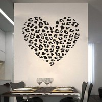 Amazon.com: Cheetah Spot Print Heart Removable Wall Art Decal Sticker Decor Mural DIY Vinyl Dcor Room Home: Home &amp; Kitchen