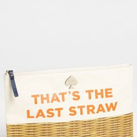 kate spade new york 'call to action - gia' canvas pouch | Nordstrom