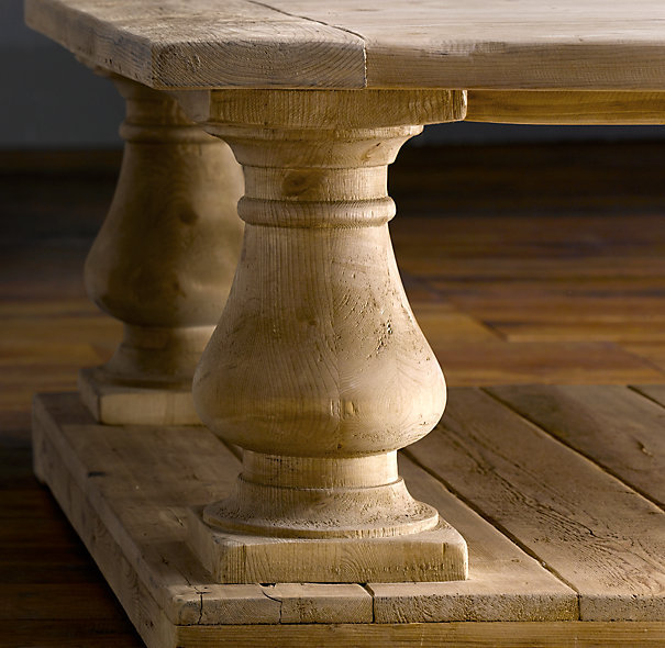 Restoration Hardware Reclaimed Teak Coffee Table: Balustrade Salvaged Wood Coffee Tables From Restoration