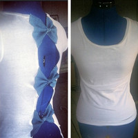 Denim Bow Back Tee by AngeliqueMerici on Etsy