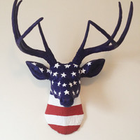 USA Deer Head Wall Mount