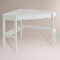 Duncan Corner Computer Desk, White