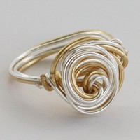 Gold&amp;Silver Galaxy Ring