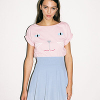 Lazy Oaf | Blue Wash Circle Skirt with Pizza Zip