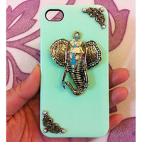 Handmade Elephant Case For iPhone4/4s,iPhone5