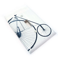 High bike switch plate  black & white switch by summittdesigns