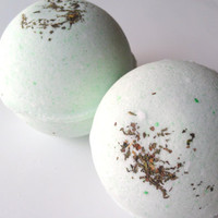 Cucumber Mint Bath Bomb by ZEN-ful, Bath Bombs, Bath Fizzy, Gift Ideas, Gifts For Her, Bath Bombs 5.5 oz.