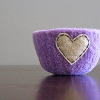 felted bowl fuzzy felted lavender wool bowl with by thefelterie