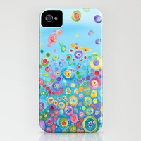Inner Circle - Blue iPhone Case by Catherine Holcombe | Society6