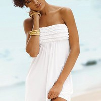 Strapless Ruffle Cover-up