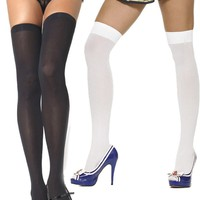 Leg Avenue Women's Opaque Nylon Thigh High #6672