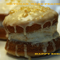 Vegan Gluten Free Double Vanilla Orange whoopie  pies , love, birthday.