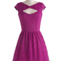 Be Bright Back Dress in Fuchsia | Mod Retro Vintage Dresses | ModCloth.com