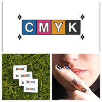 CMYK - temporary tattoo (Set of 6)