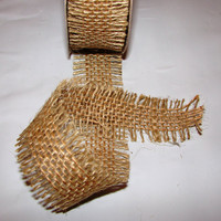 2 yards of High quality 1 1/2 inch natural jute by RibbonAndMore