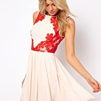 Ted Baker Dress with Lace Detail at asos.com