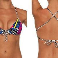 B.SWIM JUBO-U33 Diamond Push Up Tops only:Amazon:Clothing