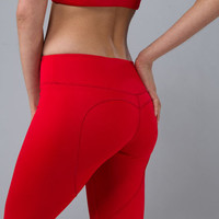 Red Hot Yoga Legging, Heart Butt Workout Legging