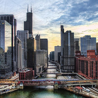 Chicago River Photograph by Tammy Wetzel - Chicago River Fine Art Prints and Posters for Sale