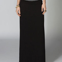Full Tilt Fold Over Waist Maxi Skirt Black  In Sizes