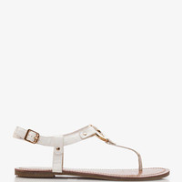 Faux Leather Ring Thong Sandals | FOREVER 21 - 2036301042