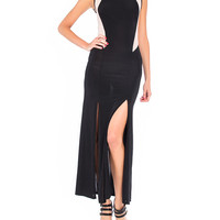 Double Slit Mesh Maxi Dress - 2020AVE