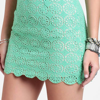 Adrianna Crocheted Lace Miniskirt - $35.00 : ThreadSence, Women's Indie & Bohemian Clothing, Dresses, & Accessories