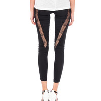 Lace Panel Leggings - 2020AVE