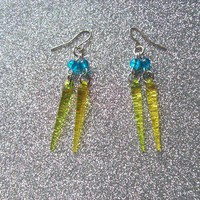 Transparent Neon Spike Eearrings from On Secret Wings