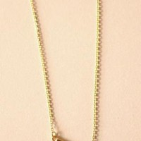 Gold Chain Necklace with Small Sideway Wishbone Charm