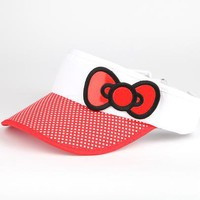 Hello Kitty Sports Visor: Red Bow