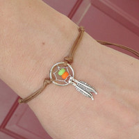 Dream Catcher Bracelet or Anklet YOU CHOOSE Colors
