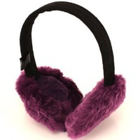 Amazon.com: Winter Fuzzy Ski Earmuff muff Warmer Headband Purple: Clothing