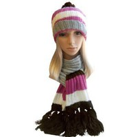 Amazon.com: Winter Hat, Scarf Set - Cable Knit Scarf, Slouch Beanie Hat for Women (Brown): Sports & Outdoors