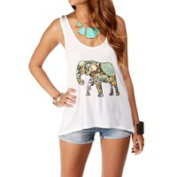 Ivory X Back Colorful Elephant Tank