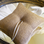 Burlap Ring Bearer Pillow made of natural burlap and non-embellished so you can decorate to your liking or use as is.