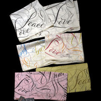 "Bernard Maisner - Bernard Maisner ""Peace, Love & Understanding"" Signature Scarfs -- -- Custom Social Stationery, Fine Engraved Stationery, Wedding Invitations and Hand Lettering for Advertising, Film & TV"