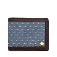 Bi Fold Combo Wallet - Blue | rag &amp; bone Official Store
