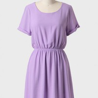A Simple Spring Dress In Lavender at ShopRuche.com