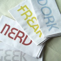 Mod Geekery Cloth Napkins - Set of FOUR