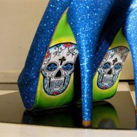 CHIQ | Blue Glitter Skulls : Glamfoxx