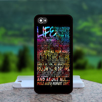 Life Quote Galaxy Nebula - Photo Print in Hard Case - For iPhone 4 / 4s Case , iPhone 5 Case - White Case, Black Case (CHOOSE OPTION )