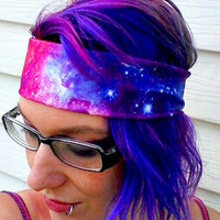 Galaxy Nebula headband Space hair bow geek planet stars Space
