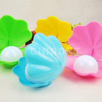 Color Changing Rechargeable Shell Nightlight LED Light Home Decoration Gifts