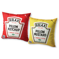 Ketchup &amp; Mustard Pillow | Accessories | SkyMall