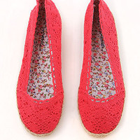 Crochet Hemp Flats - Flats at Pinkice.com