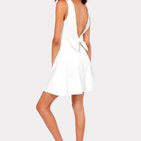 Bow-tiful Dreamer Backless Ivory Dress