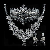 [29.99] Glamorous First Class Austrian Diamonds & Alloy & Man-made Pearl Necklace & Earrigs & Tiara For Your Wedding Dress - Dressilyme.com
