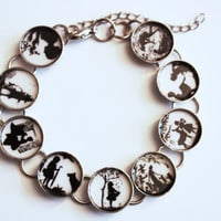 Bracelet  Silhouette Fairy Tales by karamboola on Etsy