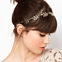 ASOS Grecian Leaf Hairband at asos.com